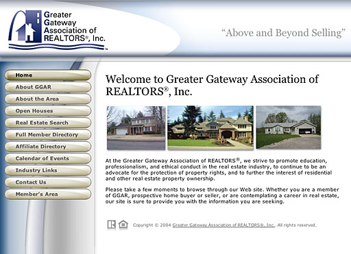 Greater Gateway Association of REALTORS®, Inc. homepage