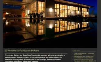 Foursquare Builders homepage